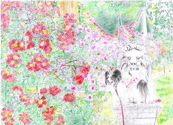 完成 薔薇とライオンブログ用