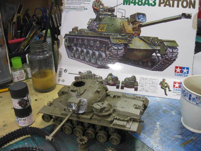 M48A3 タミヤ 塗装の1