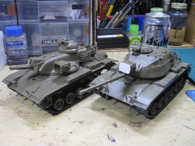 M60A1 & M60A2 塗装開始の1