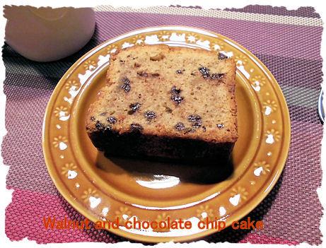 クルミとチョコチップケーキ