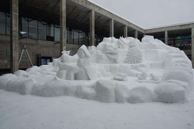 キナーレの雪像