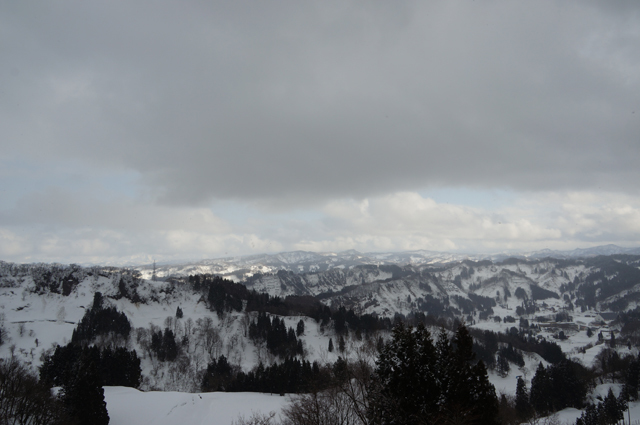 雪山が晴れた