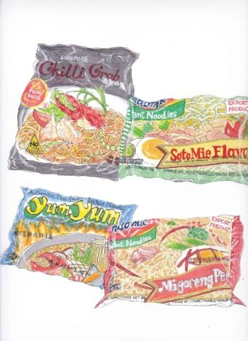 インスタント麺袋