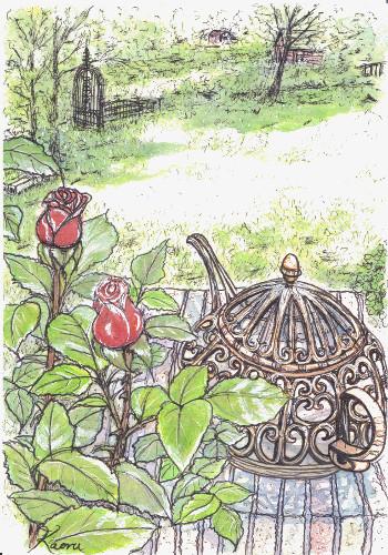 ブログ・バラの庭園