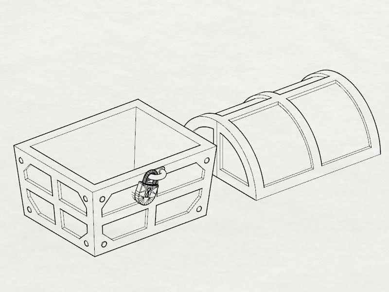 16bitModels スペランカー 宝箱