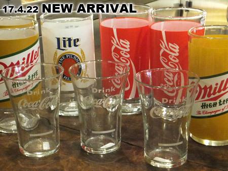 コカ・コーラ、ミラービールヴィンテージグラス