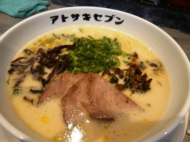 アトサキラーメン:豚骨ラーメン