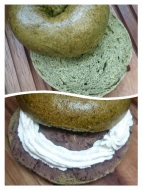 蓬ベーグルレーズン酵母あんこサンド