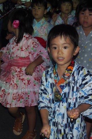 小松町ふるさと祭り 園児の踊り