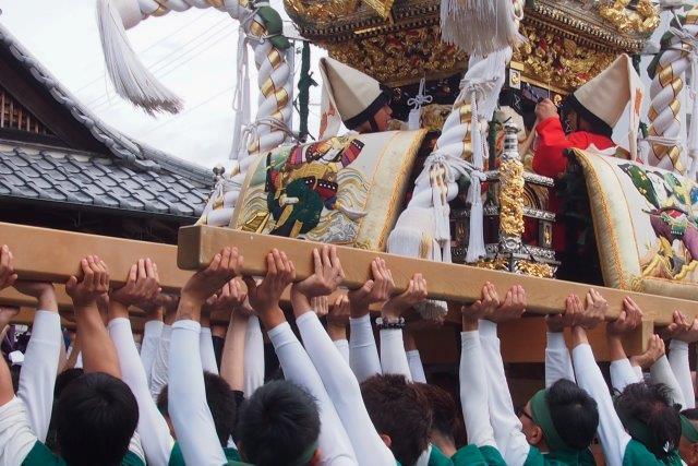 たかおか神社秋祭り 東辻井屋台の宮入