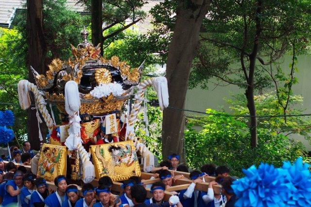 たかおか神社秋祭り 神子岡屋台の宮入