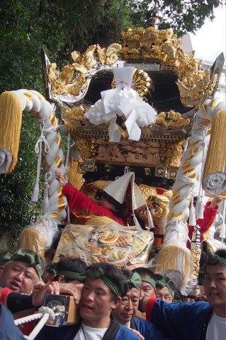 たかおか神社秋祭り 田寺東屋台の宮入