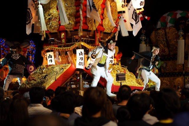 第12回 とよなか秋のまつり 今年もゆめタウン三豊に山乃側太鼓台の入場