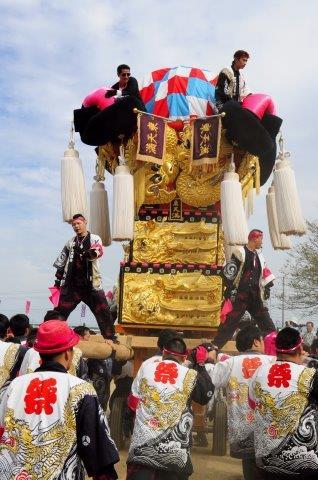 四国中央市 土居秋祭り 東天満太鼓台 2016年関川河川敷