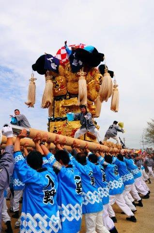 四国中央市 土居秋祭り 入野太鼓台 2016年関川河川敷