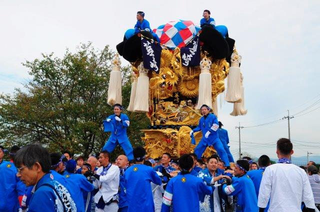 四国中央市 土居秋祭り 蕪崎太鼓台 2016年関川河川敷