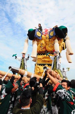 四国中央市 土居秋祭り 中村太鼓台 2016年関川河川敷