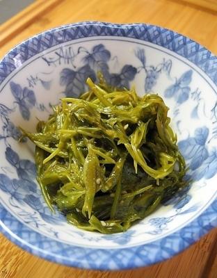 20170418ギンバソウ酢味噌炒め