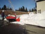 作業場除雪