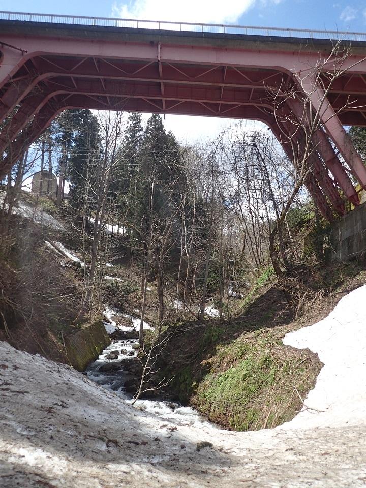 橋したと残雪