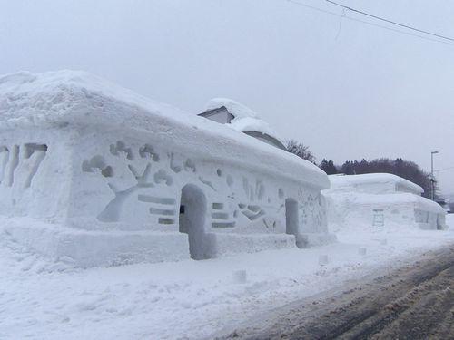 月山志津温泉雪旅籠の灯り3