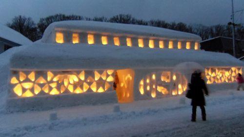 月山志津温泉雪旅籠の灯り9