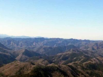 山頂からの山並み