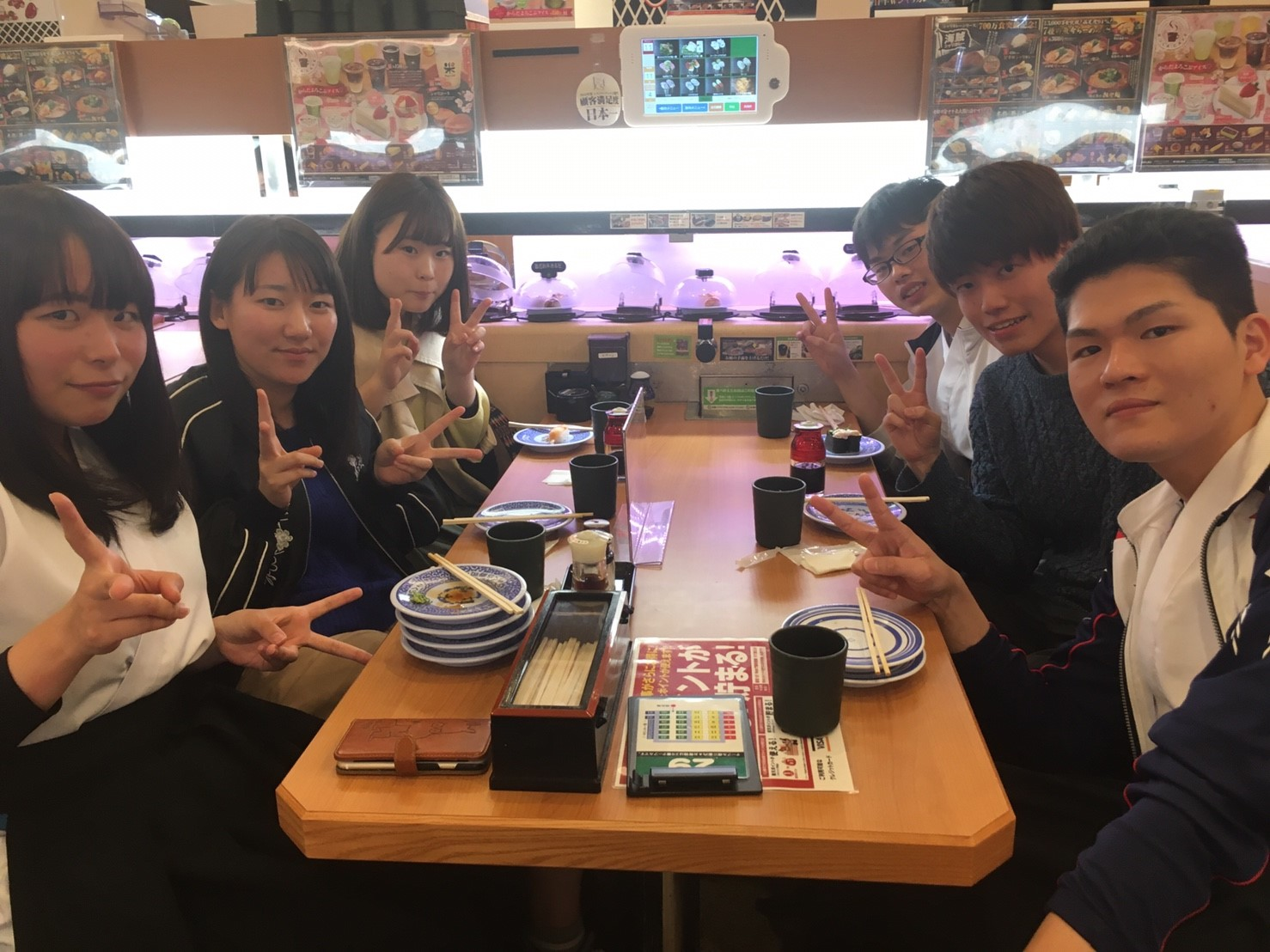 新歓1日目 くら寿司🍣_170405_0007
