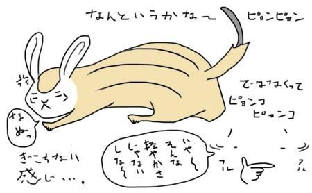 ウサギシマリスぎこちない