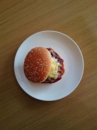 手作りチーズバーガー1