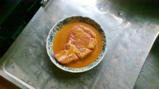 ポークソティ(豚ロース味噌漬け焼き)3