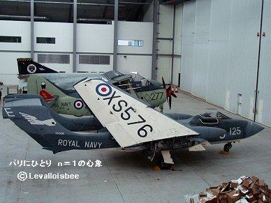 絶滅種双胴機最後の生き残りSea Vixen IWM博物館レストア中REVdownsize