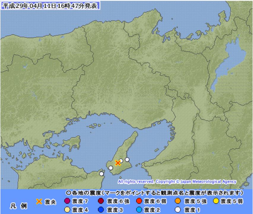 4月11日の地震