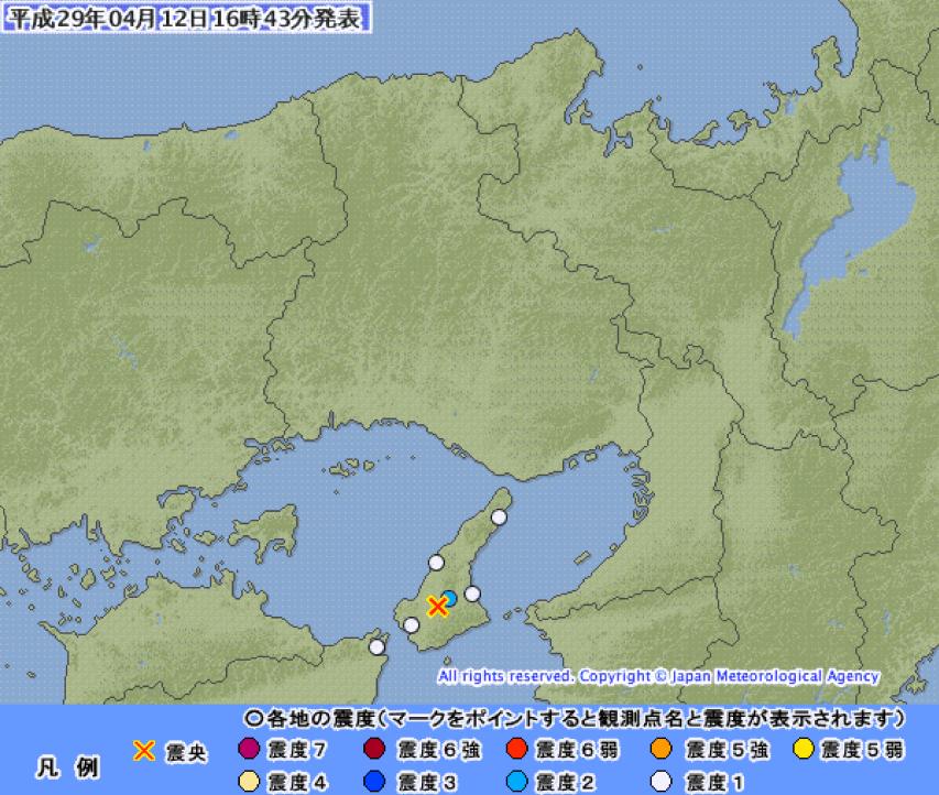 4月12日の地震