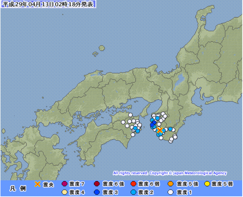 4月13日の地震