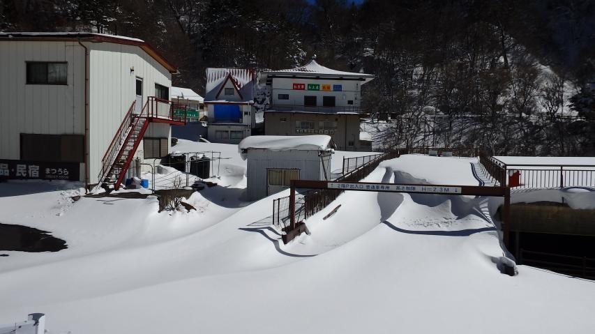 積雪は必ずしも多くはない