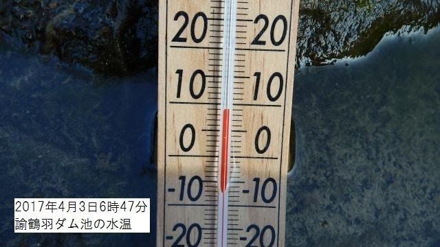 ダム池の水温