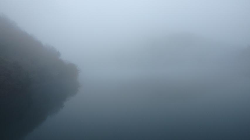 霧の上田池