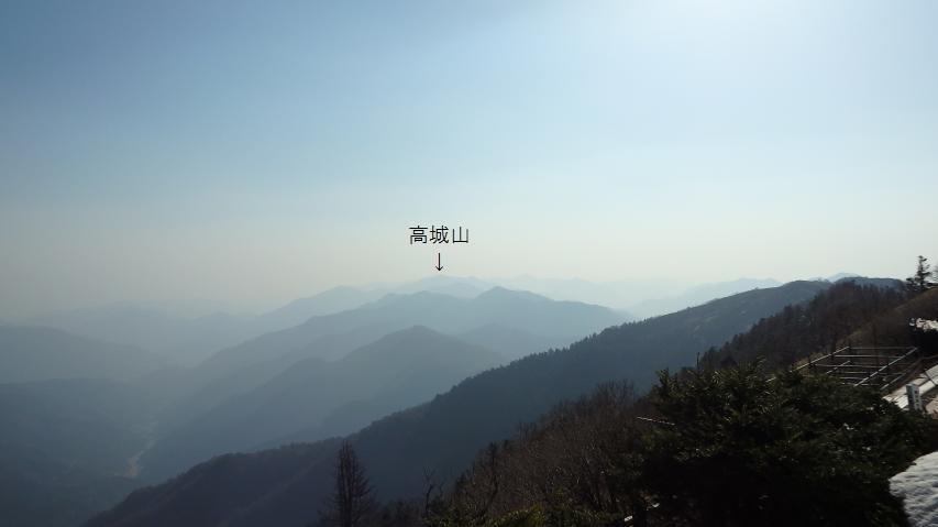山小屋からの眺め