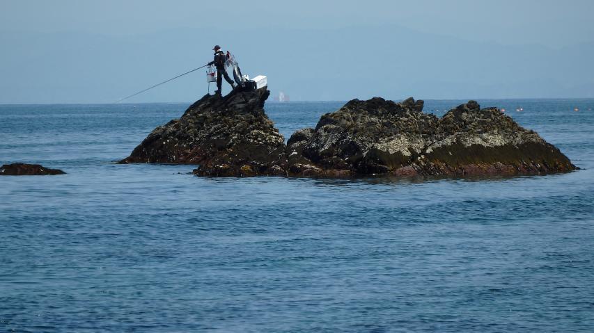 釣の最中に南海地震がきたら、どう逃げる??