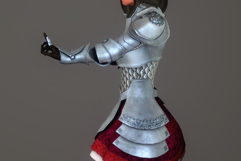 Chevaleresse Armor 034-1 Pose Up-Si-F 1