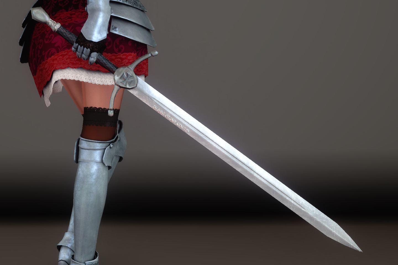 Chevaleresse Armor 036-1 Pose 2HS 1