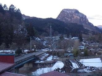 有笠山を一望