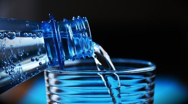 フリー画像・ブルーの小瓶