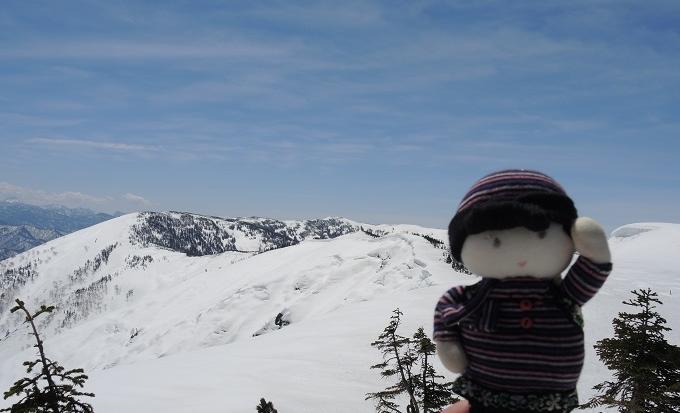 三岩岳稜線