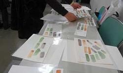 水彩くらぶ勉強会水彩紙比較クイズ