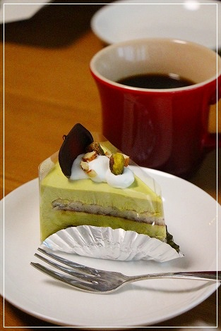 ピスタチオのケーキ(くまさんサンクス)