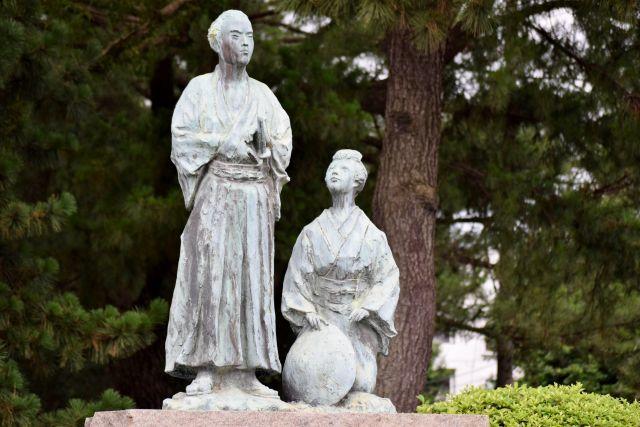 坂本竜馬の 新婚旅行像