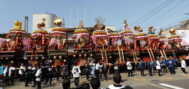 神輿と花山車11