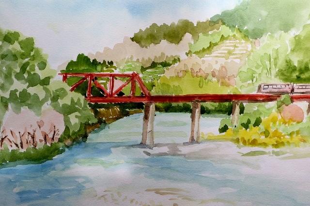 紀の川 春